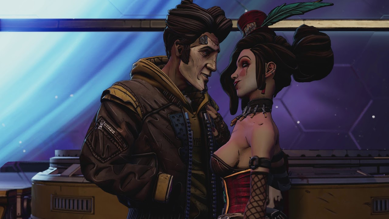 Borderlands - Mad Moxxi e Timothy Lawrence