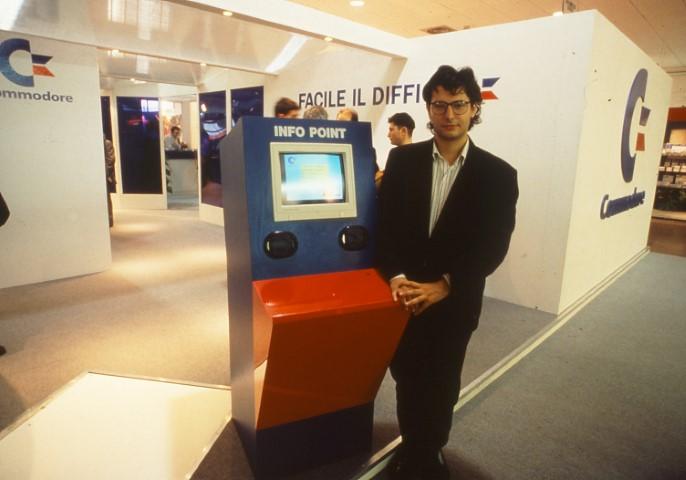 Carlo Santagostino allo Smau del 1991