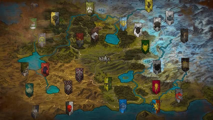 Alaloth la mappa del mondo